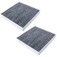 HQRP 2-Pack Carbon A/C Cabin Air Filter for Honda CR-V 2007-2016; Civic 2006-2015; Crosstour 2012-2015 + HQRP Coaster