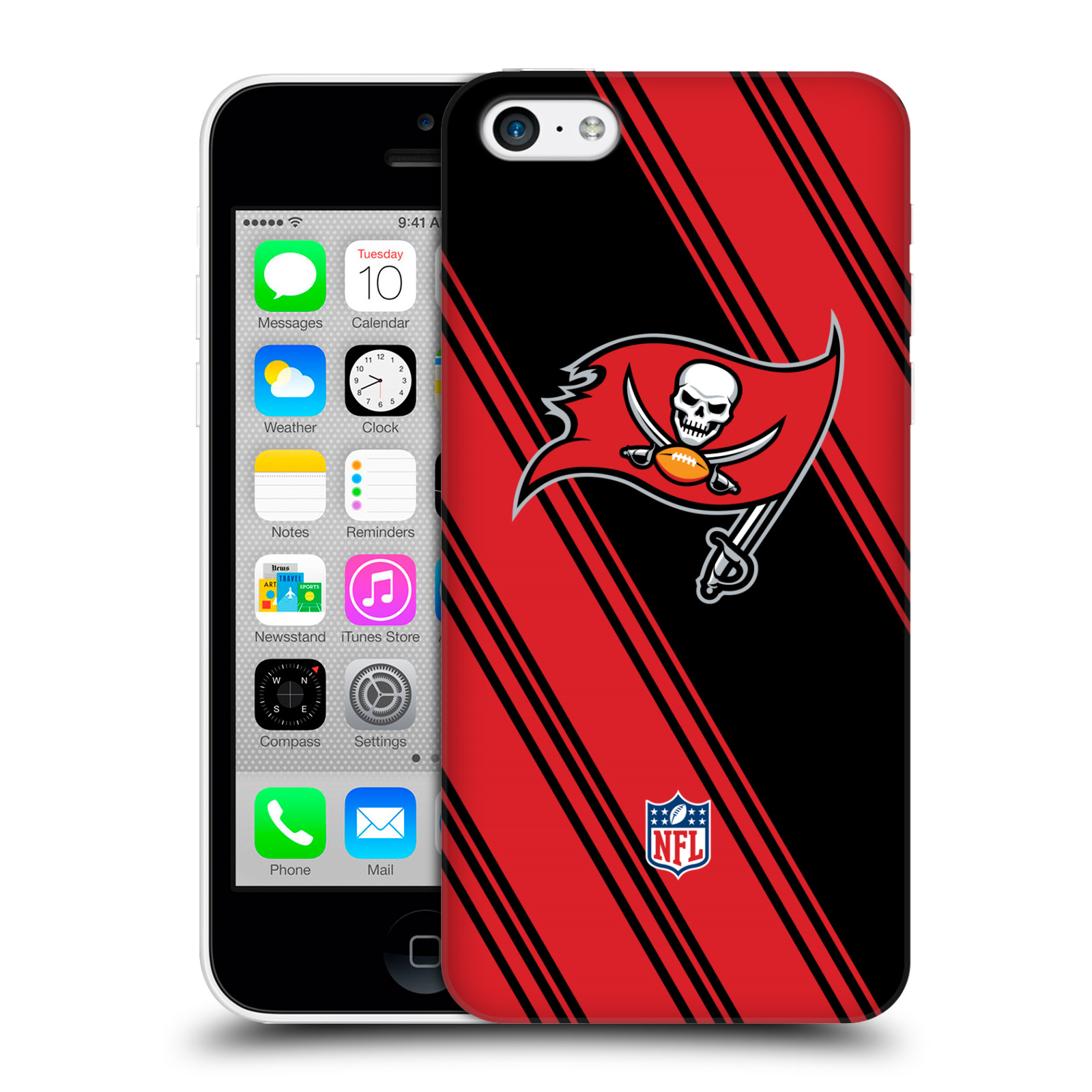 OFFICIAL NFL 2017/18 TAMPA BAY BUCCANEERS HARD BACK CASE FOR APPLE IPHONE PHONES