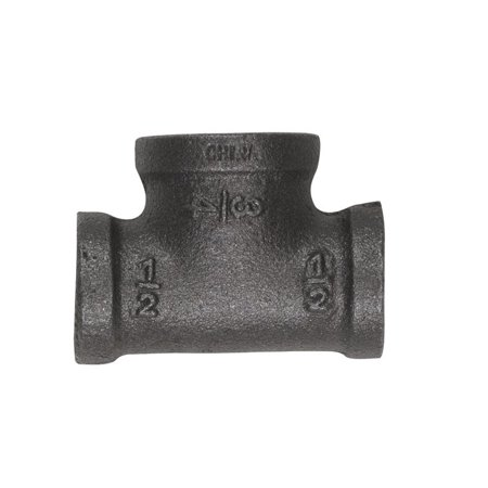 Mueller 520-334BG Malleable Black Iron Reducing Tee 1/2