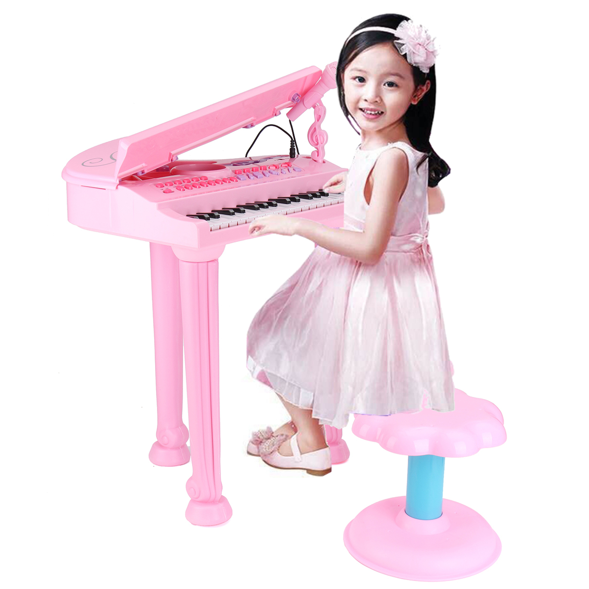 37 Key Function Panel Electronic Grand Piano Pink Musical Instrument Keyboard Organ... by