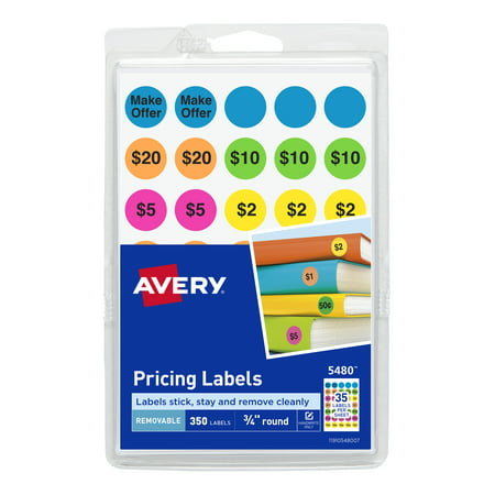 Avery Preprinted Removable Garage Sale Labels, 3/4