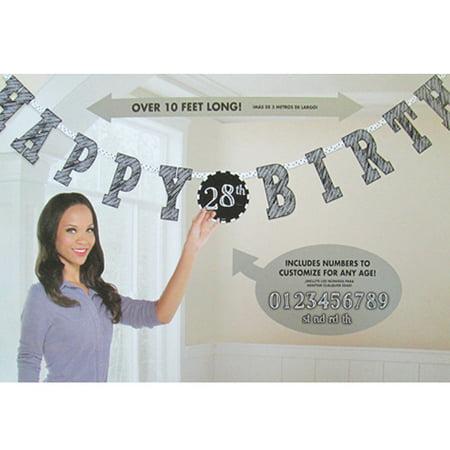 Happy Birthday 'Chalkboard' Jumbo Letter Banner Kit (1ct)](Chalkboard Happy Birthday)
