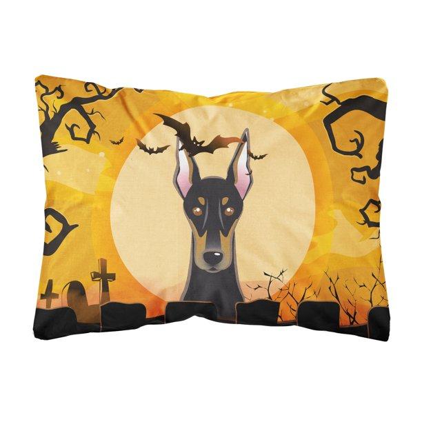 Halloween Doberman Fabric Decorative Pillow Walmart Com Walmart Com
