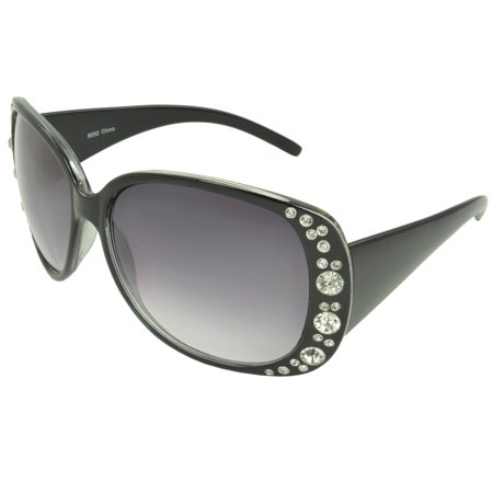 MLC Eyewear Rhinestone Shield Fashion Sunglasses