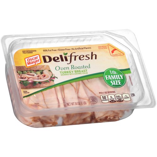 Oscar Mayer Deli Fresh Oven Roasted Turkey Breast, 16 oz