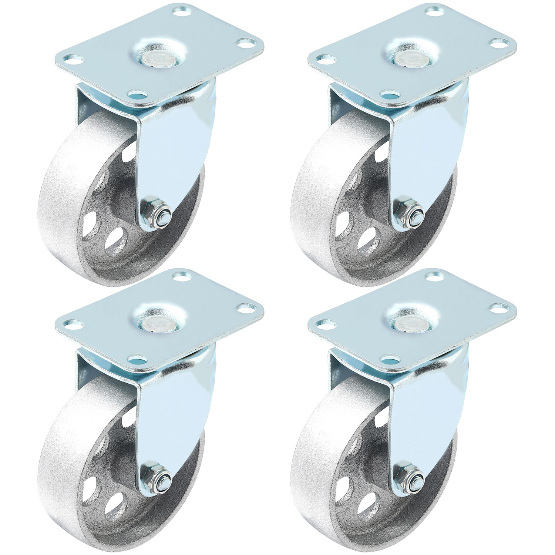 """12 Pack Large Steel Swivel Caster Heavy Duty 3.5/"""" Wheel"""