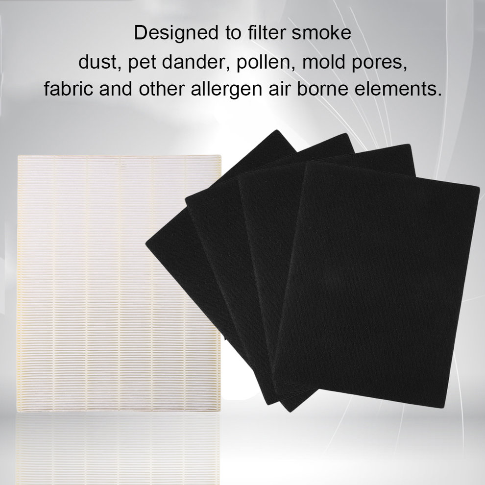 Replacement Hepa Filter+4pcs Carbon Pre-Filter For Winix ...