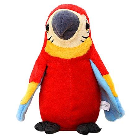 Iuhan Adorable Speak Talking Record Repeats Waving Wings Cute Parrot Stuffed Plush