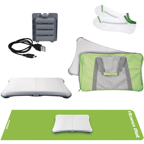 DreamGear 5-in-1 Fitness Bundle for Wii Fit, Green (Wii)