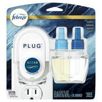 Febreze Plug Odor-Eliminating Air Freshener, Ocean, Starter Kit