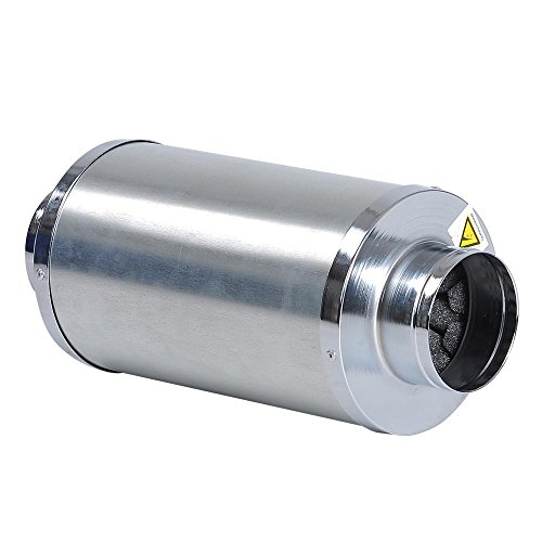 "Hydroponics 4"" Inline Fan Blower Silencer Duct Muffler Noise Reducer for Grow Tent System"