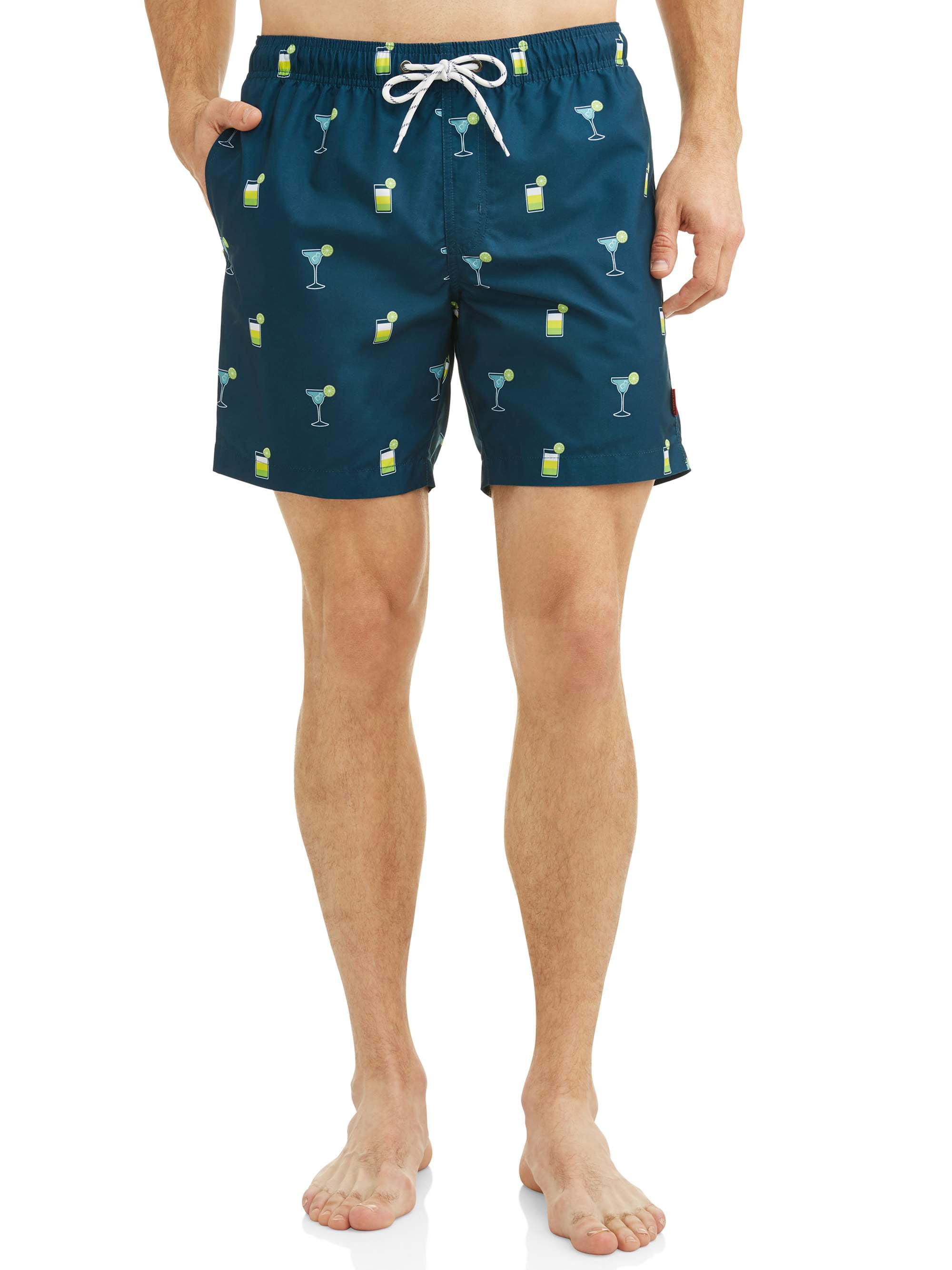 Hot Coals Men's Conversational Printed Swim Shorts
