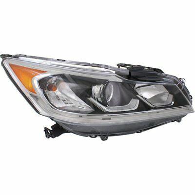 Halogen Headlight For 2016-2017 Honda Accord Sport Right w/ Bulb(s)