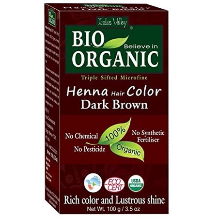Valley Girl Hair (Indus Valley Bio Organic Natural Dark Brown Henna Hair)