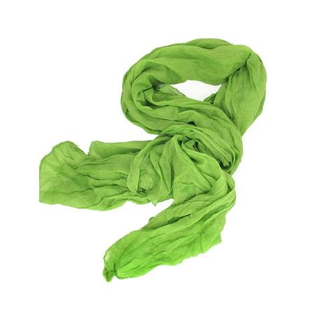 Women Semi Sheer Soft Warm Classic Leisure Scarf (Green Hip Scarf)