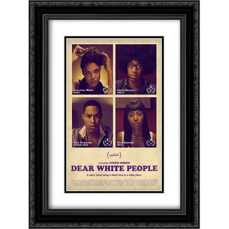 Dear White People 18X24 Double Matted Black Ornate Framed Movie Poster Art Print