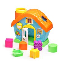 """GHP 8""""x7.2""""x4.5"""" Plastic Baby Colorful Educational House Vibrant Shape Sorting Toy"""