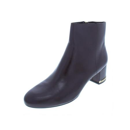 MICHAEL Michael Kors - MICHAEL Michael Kors Womens Sabrina Leather Block  Heel Ankle Boots - Walmart.com ca3b495457ae