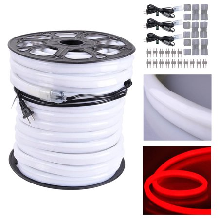 DELight 150 FT 110V Flexible LED Neon Rope Light Indoor Outdoor Holiday Valentines Party Decoration Lighting Color Opt - Outdoor Valentine Decorations