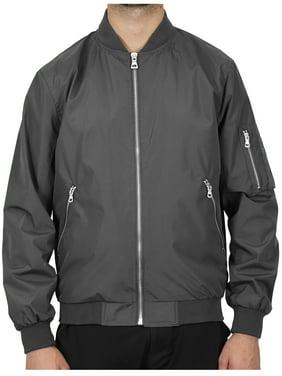 Spire By Galaxy Men's Lightweight Full-Zip Hooded Windbreaker Jacket