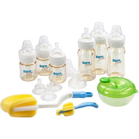 Born Free Classic Plastic Baby Bottle Gift Set, BPA-Free