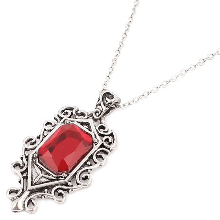 City Necklaces (Unique Bargains The Mortal Instruments City of Bones Vintage Red Plastic Crystal Decor)