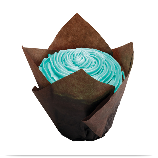 2x1/4 x 2x3/4 x 4 Large Chocolate Tulip Cupcake Wrapper/Case of 1000