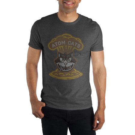 Fallout Atom Cats Faction Men's Heather T-Shirt Tee Shirt-Small