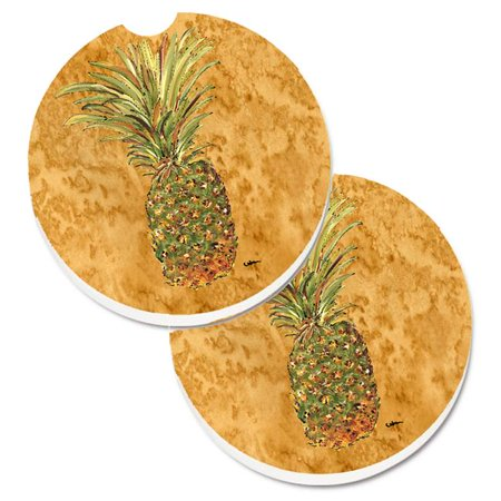Pineapple Set of 2 Cup Holder Car Coaster