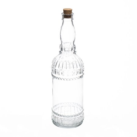 Richland Patterned Glass Bottle with Cork Set of 12 - Bottles With Corks