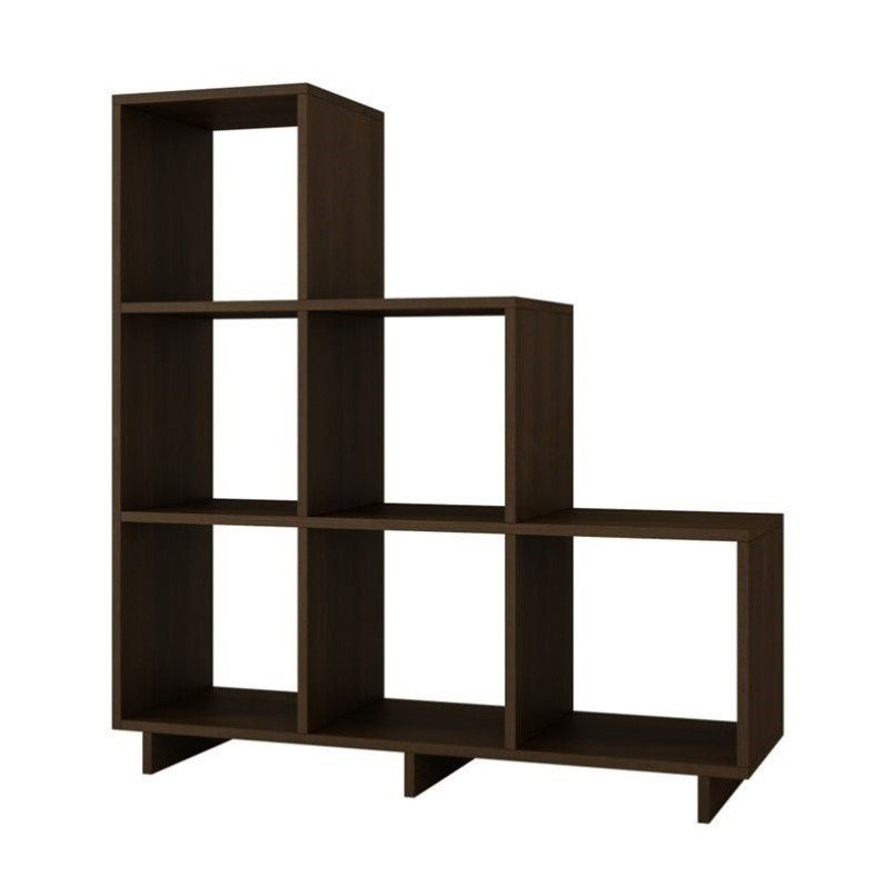 Manhattan Comfort Cascavel Storage Cubbies in Tobacco