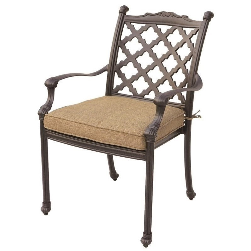 Darlee Camino Real Patio Dining Chair in Antique Bronze (Set of 4)