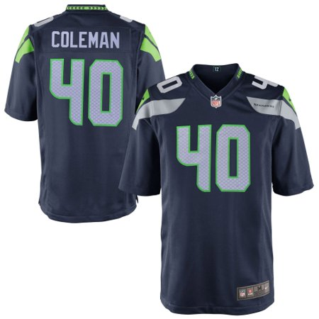 Derrick Coleman Seattle Seahawks Youth Nike Team Color Game Jersey - Navy Blue ()