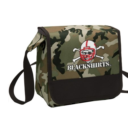 CAMO University of Nebraska Blackshirts Lunch Bag Stylish OFFICIAL Nebraska Blackshirts CAMO Lunchbox Cooler for School or Office - Men or Women