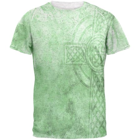 St. Patricks Day Dirty Irish Celtic Cross Mens T - Dirty Old Man Shirt