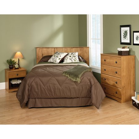 sauder full queen 3 piece bedroom in a box set amber pine walmart