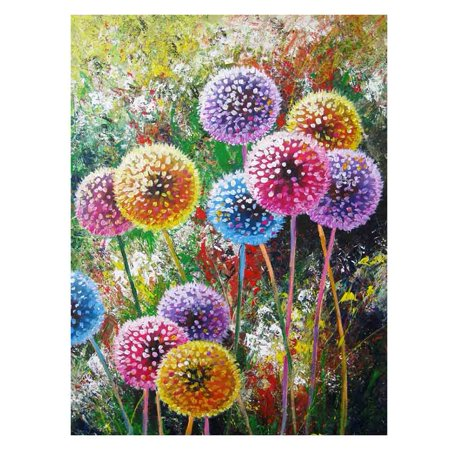 KABOER DIY 5D  Full Drill Dandelion 5D DIY Diamond Painting Cross Stitch Round Diamond Dotz Embroidery Rhinestones Mosaic Art Craft Kits Home Wall Picture Decoration 16