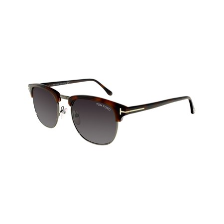 Tom Ford Men's FT0248-52A-53 Tortoiseshell Square Sunglasses (Tom Ford Sunglass Lens)