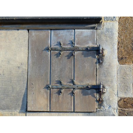 Canvas Print Small Door Fittings Wood Old Old Door Fitting Stretched Canvas 10 x 14