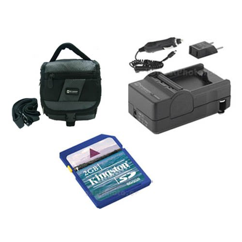 Panasonic HDC-HS80 Camcorder Accessory Kit includes: SDM-1529 Charger, SDC-27 Case, KSD2GB Memory Card