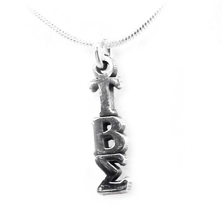 Beta Sigma Sorority - Tau Beta Sigma Sorority Sterling Silver Lavalier with Chain