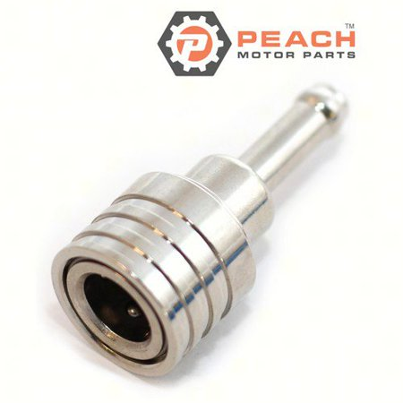 Fuel Hose Connector (11 mm I.D. Coupler)(Nipple Fits Small Diameter Hoses); Replaces Suzuki®: 65750-98505, 65750-98990, 65750-98504, 65750-98500, 65750-98501,