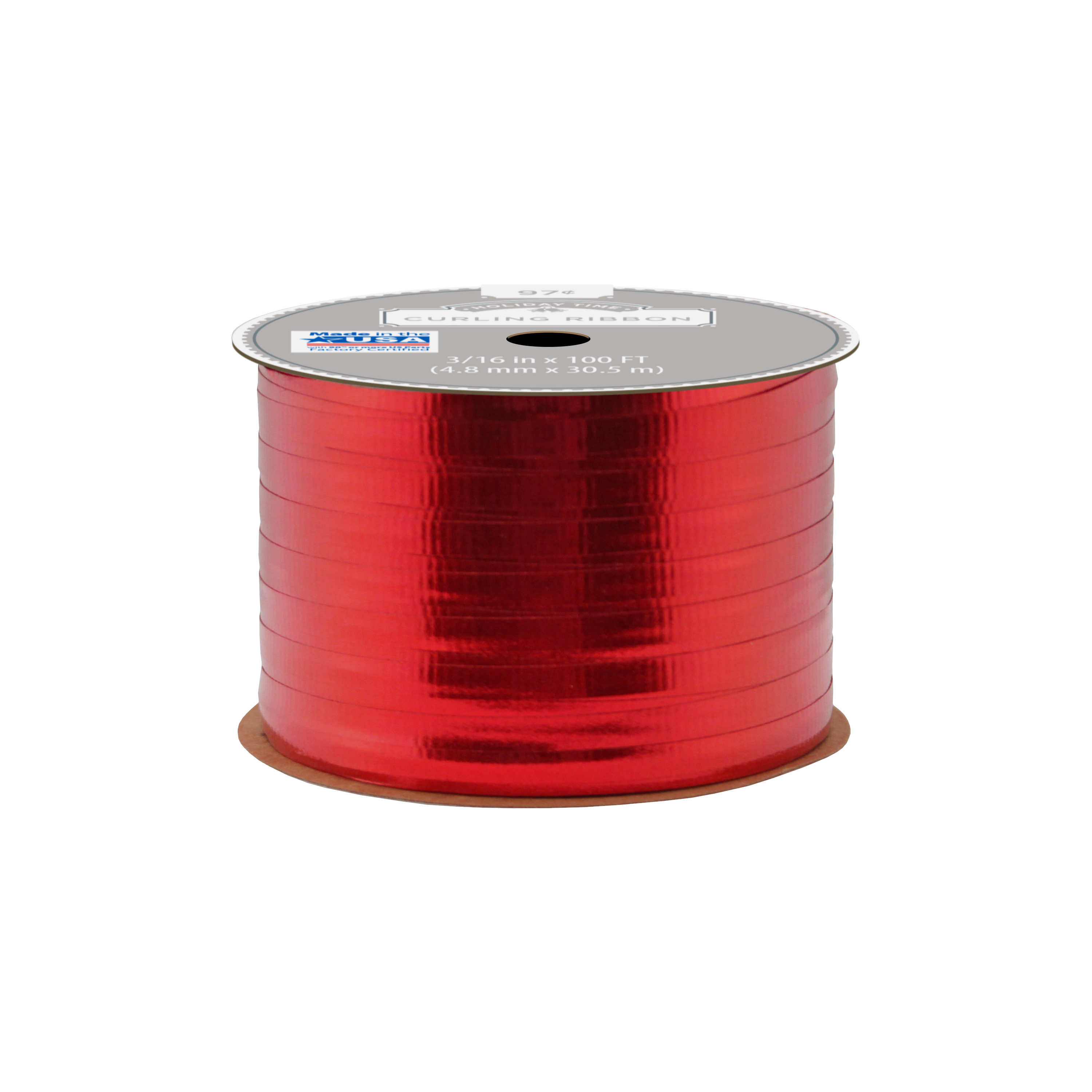 Holiday Time Curling Ribbon Red - Walmart.com