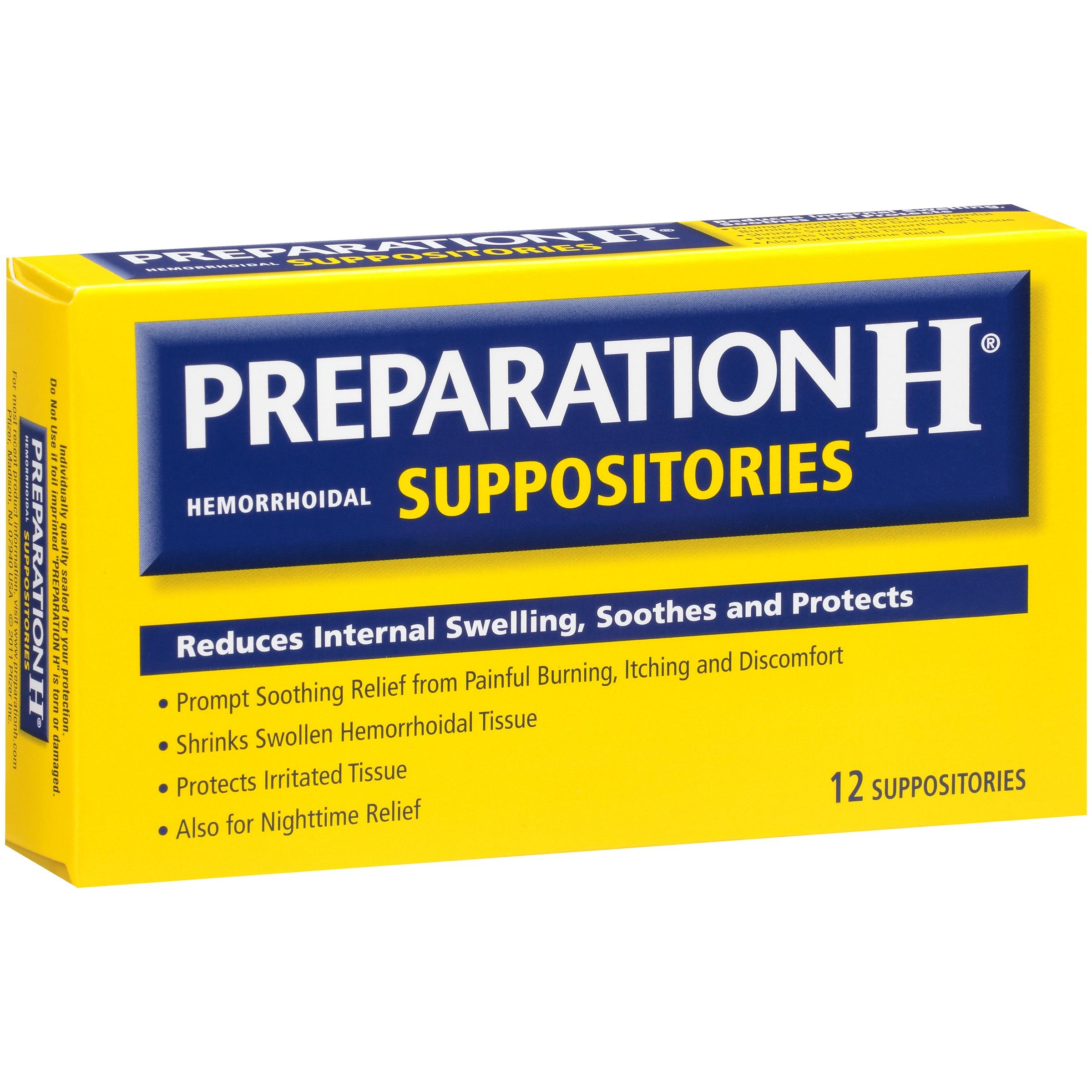 Preparation H® Hemorrhoidal Suppositories 12 ct Box