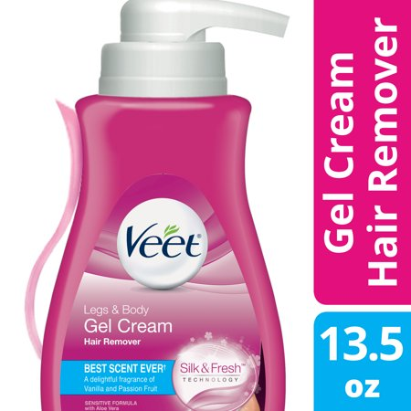 Veet Gel Hair Remover Cream for Legs and Body, Sensitive Formula - 13.5 fl oz (400