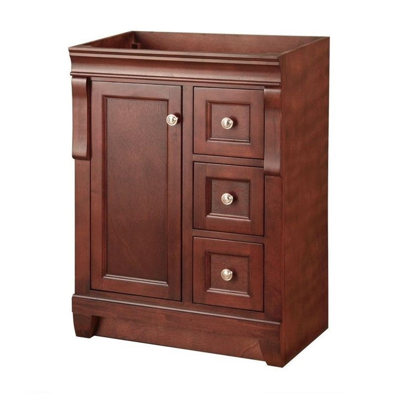 Naples 24 in. W x 18 in. D x 34 in. H Vanity Cabinet Only in Tobacco
