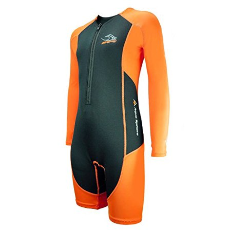 - Aqua Sphere Stingray Core Warmer Long Sleeve Wetsuit, Orange, Size 8
