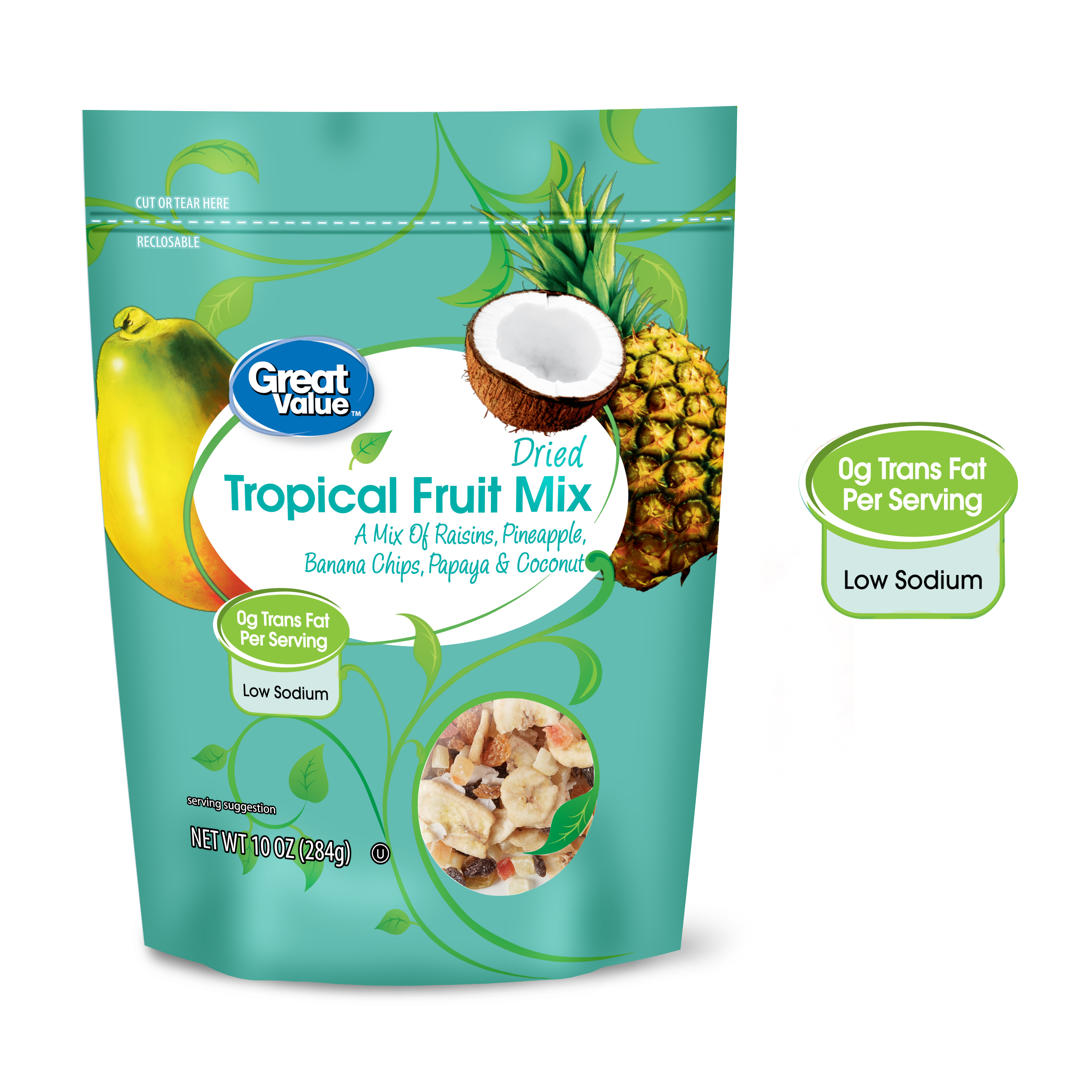 Great Value Dried Tropical Fruit Mix, 10 Oz.