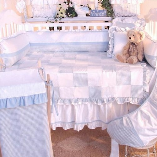 Brandee Danielle Prince Blue Deluxe 4 Piece Crib Bedding Set