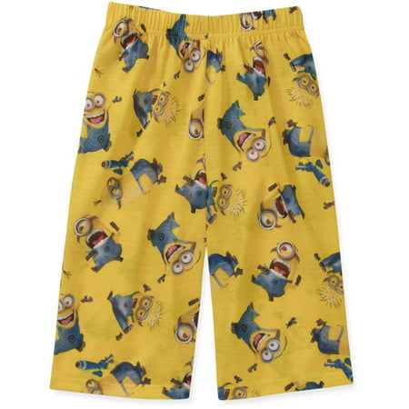 Image of Despicable Me 2 Minion Boys Pajama Jam Shorts Xs - Xl (s 6/7)